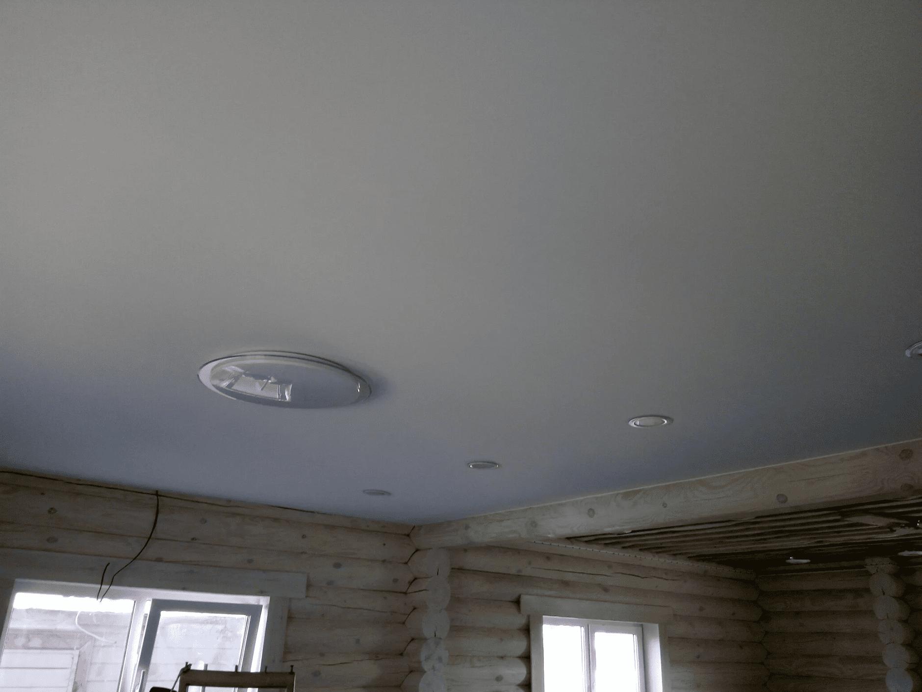 Тканевые потолки в доме в Архангельске