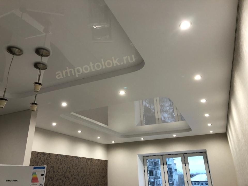 многоуровневые натяжные потолки в Архангельске