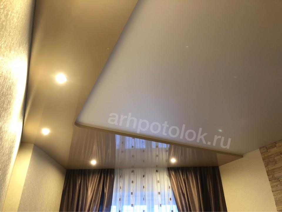 двухцветные натяжные потолки в Архангельске