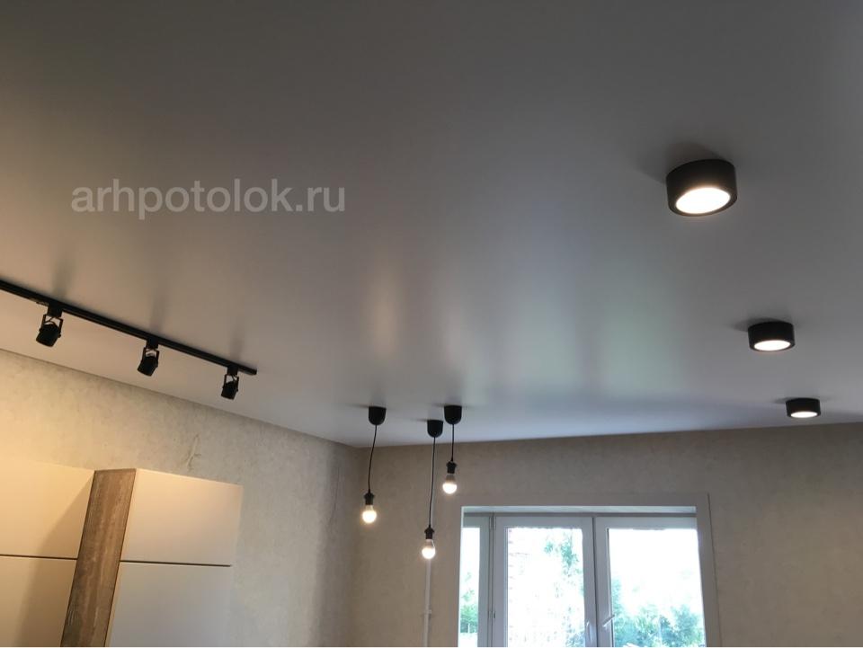 матовый натяжной потолок. Архангельск